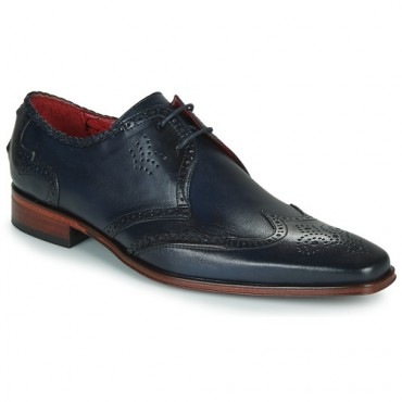 Jeffery-West SCARFACE Blue Shoes Derby Shoes Men Business Casual QUYS394